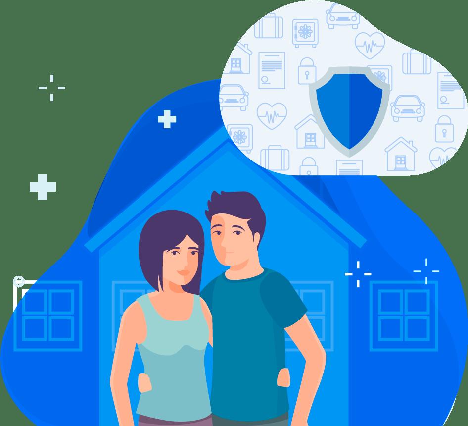 Image d'un couple qui on un projet de déménagement