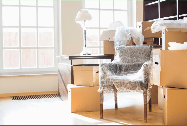 Photo d'une préparation de déménagement
